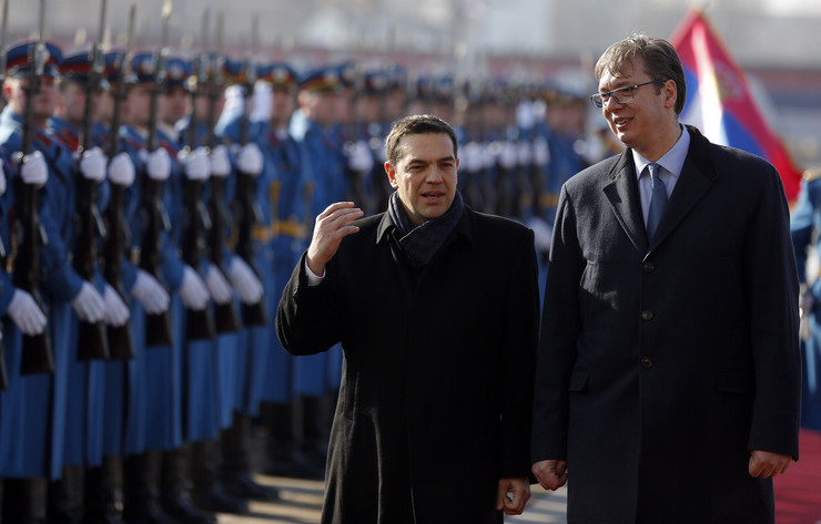 "Serbian President Vucic used ""North Macedonia"" in press conference with Tsipras"