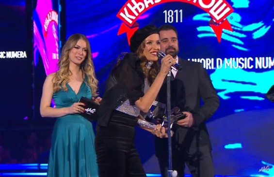 Karolina Goceva scoops Ethno Music Song of the Year Award at Belgrade Music Awards Ceremony