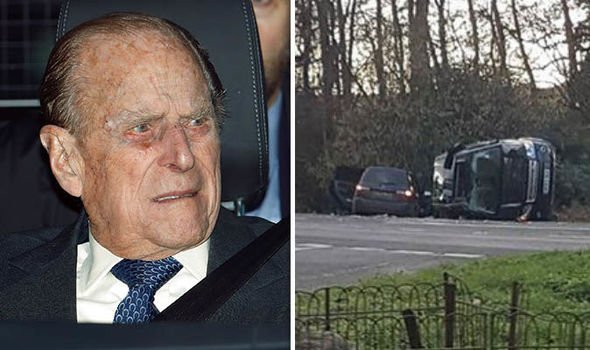 Britain's 97-year-old Prince Philip escapes unhurt from car crash while driving