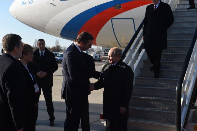 Vladimir Putin gets lavish welcome on visit to ally Serbia