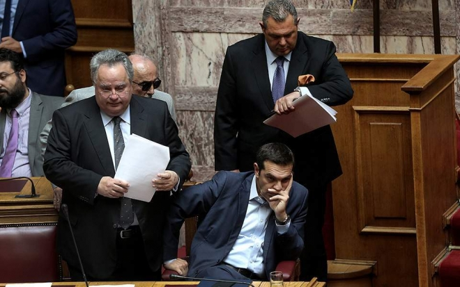 Greek parliamentary row over Macedonia name change as Alexis Tsipras calls confidence vote