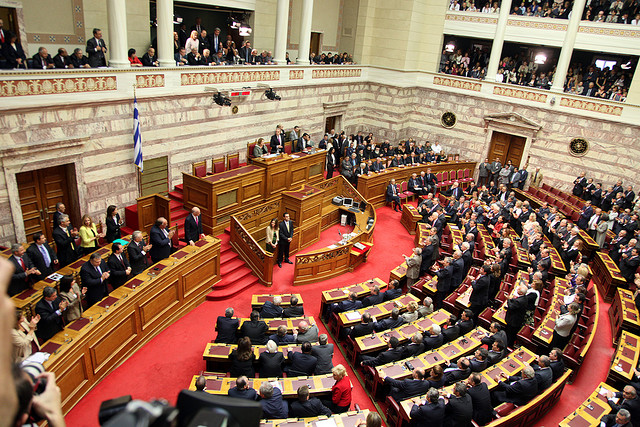 Greek parliament gears up for midnight confidence vote