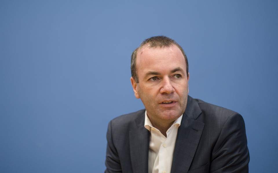Manfred Weber denies supporting the Prespa treaty