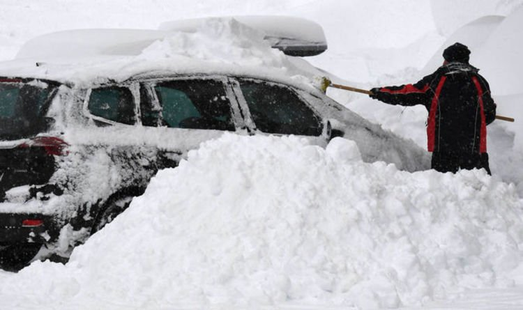 Parts of Austria, southern Germany sink deeper into snow