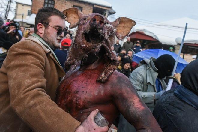 Vevcani Carnival through BBC News photos
