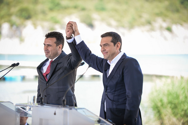 Zaev to Tsipras: Congrats – we made history together