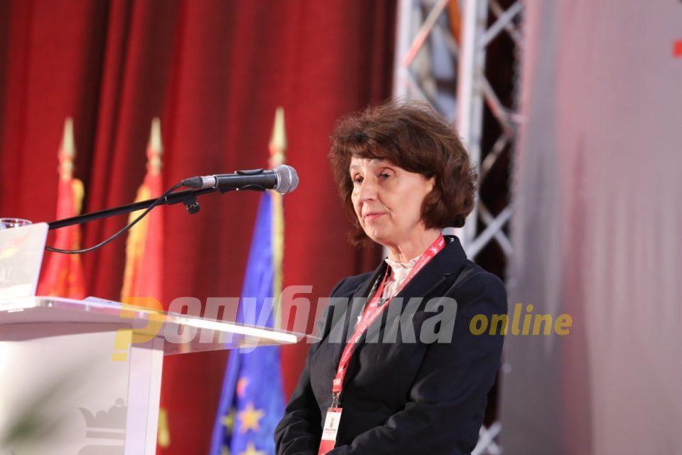 Doris Pack congratulates Gordana Siljanovska on the VMRO presidential nomination