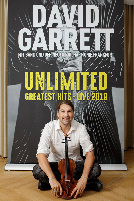 Violinist David Garrett included Skopje on his Unlimited tour in September