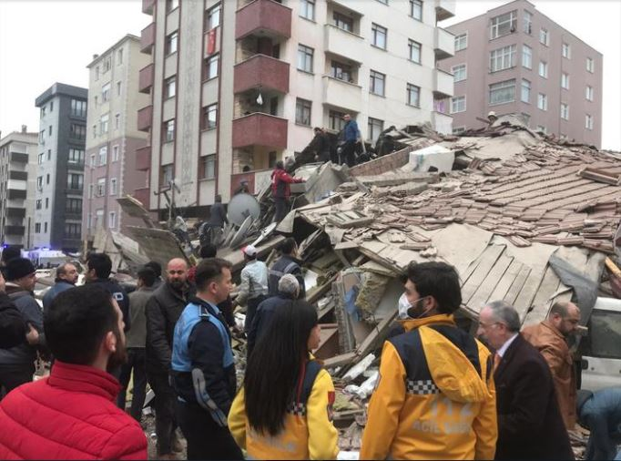 Two dead, six injured in Istanbul building collapse