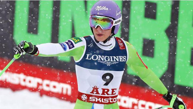 Vonn bows out with brilliant bronze as Stuhec triumphs in downhill