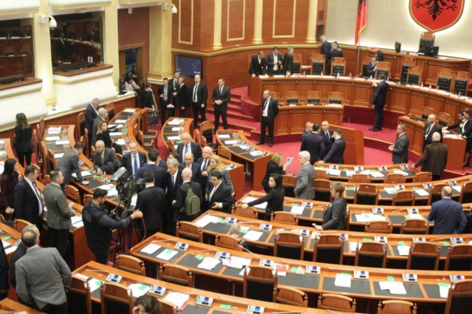 Albanian opposition walks out of Parliament after unruly protests, demands early elections