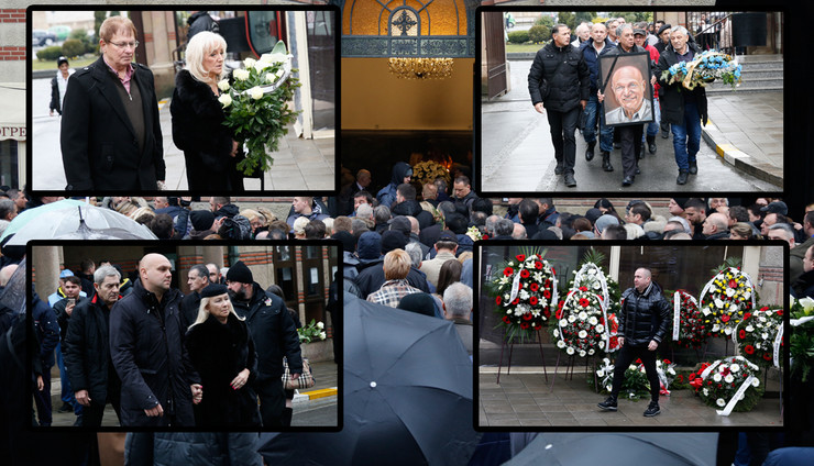 Hundreds of fans bid farewell to Saban Saulic at the cemetery, thousands follow the funeral live