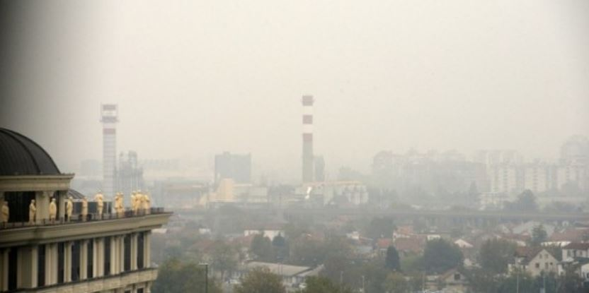 Still at the top:  Skopje is the fourth most polluted city in the world this morning