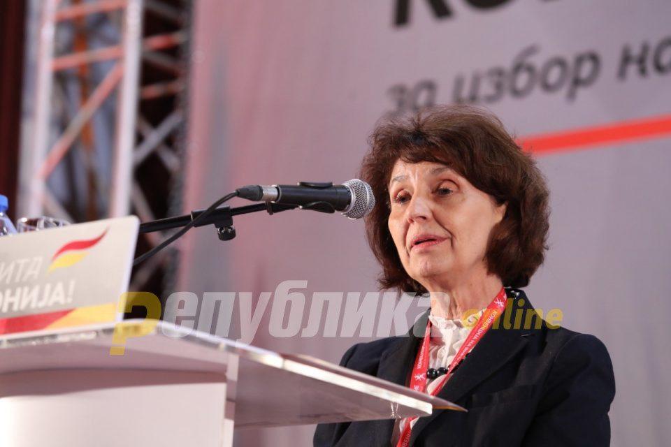 Siljanovska Davkova's presidential application submitted