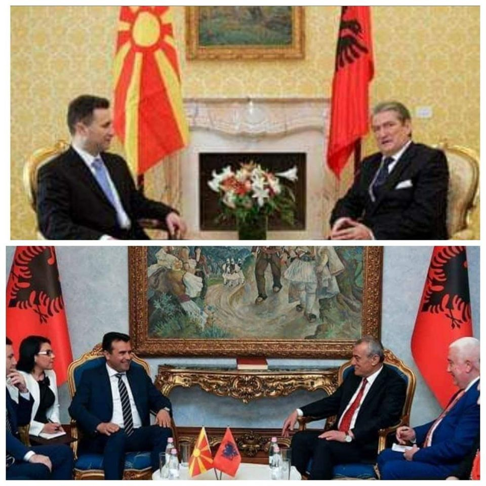 Noticeable lack of Macedonian flags during Zaev's visit to Albania
