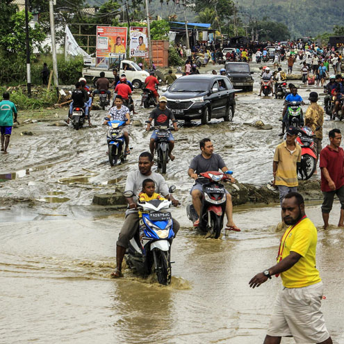 Flash floods, landslides in Indonesia's Papua province leave 73 dead