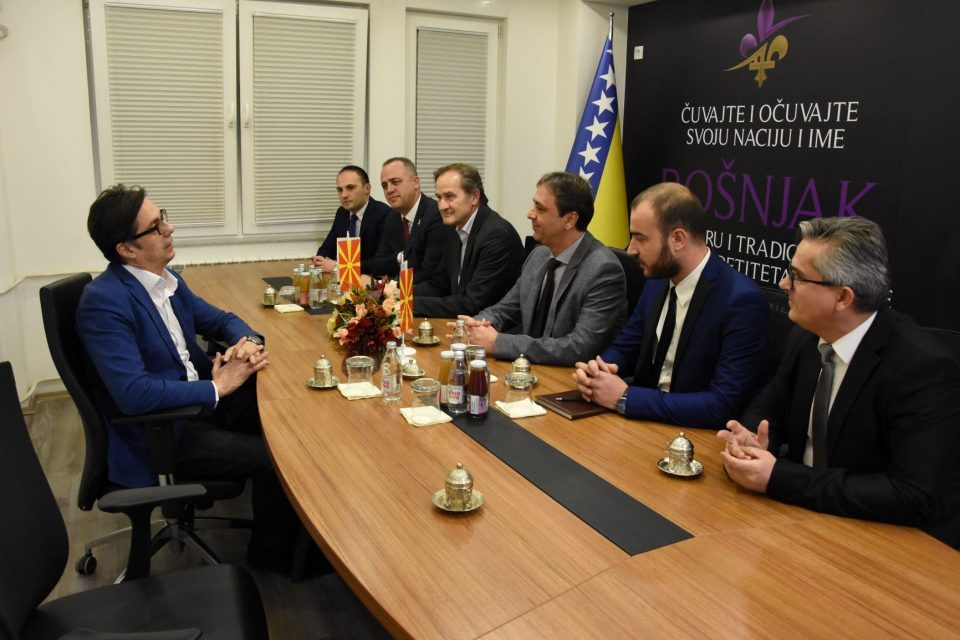 Bosniak leaders seemingly mock Pendarovski with their logo