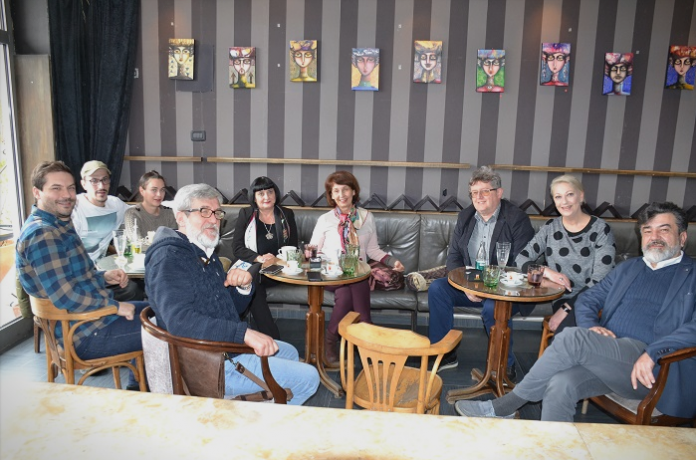 Siljanovska meets artists and actors