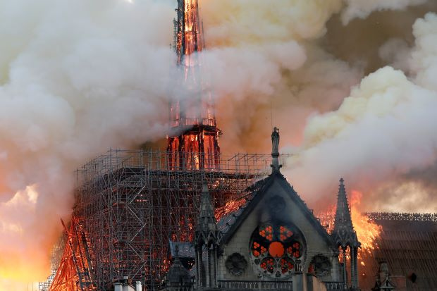 Notre Dame Cathedral blaze under control but extent of damage unknown