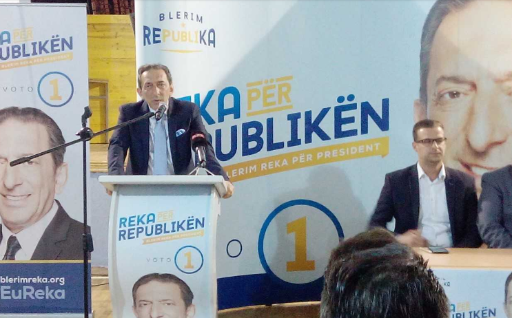"Albanian opposition bloc sees votes for Blerim Reka as votes against the ""Zaev regime"""