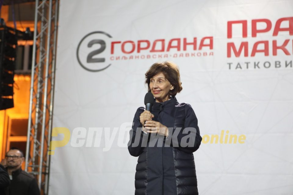 Gaffe prone Siljanovska says voters can trust her not to make strategic mistakes, like her opponent does