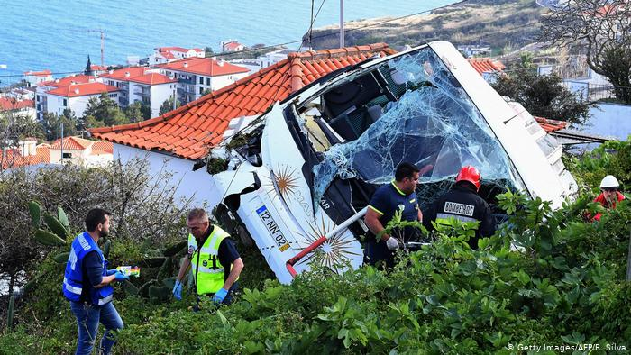 Many Germans among 29 killed in bus crash on island of Madeira