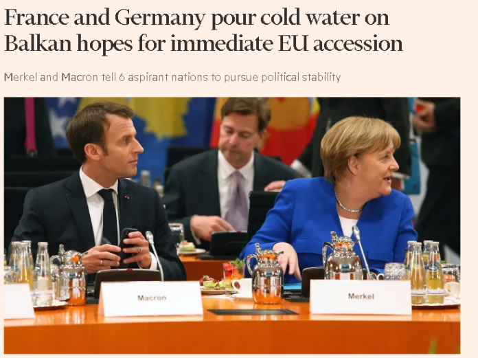 France and Germany pour cold water on Balkan hopes for immediate EU accession