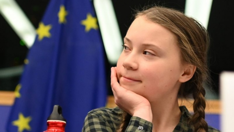 'Save The Climate Like Notre Dame' pleads teen activist Greta Thunberg