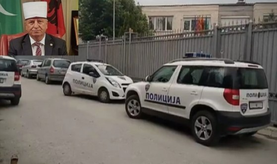 Police sent to remove the head of the Islamic Community in Macedonia after he campaigned against Pendarovski
