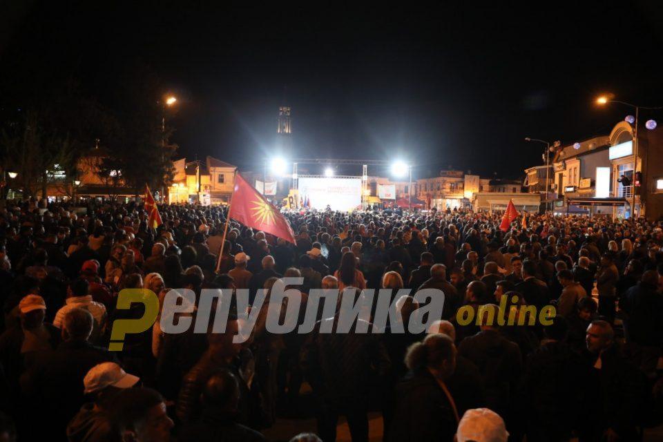 VMRO-DPMNE rally in Delcevo (follow live)