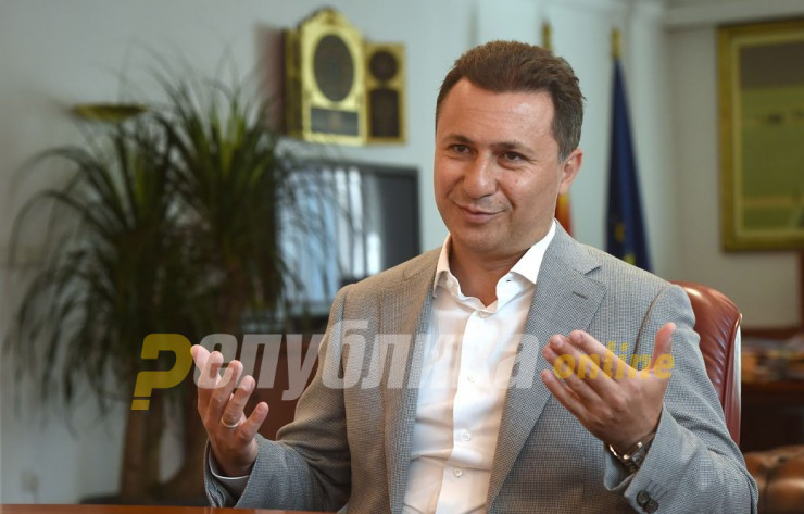 Gruevski pained by the economic growth opportunities Macedonia is missing out on under Zaev