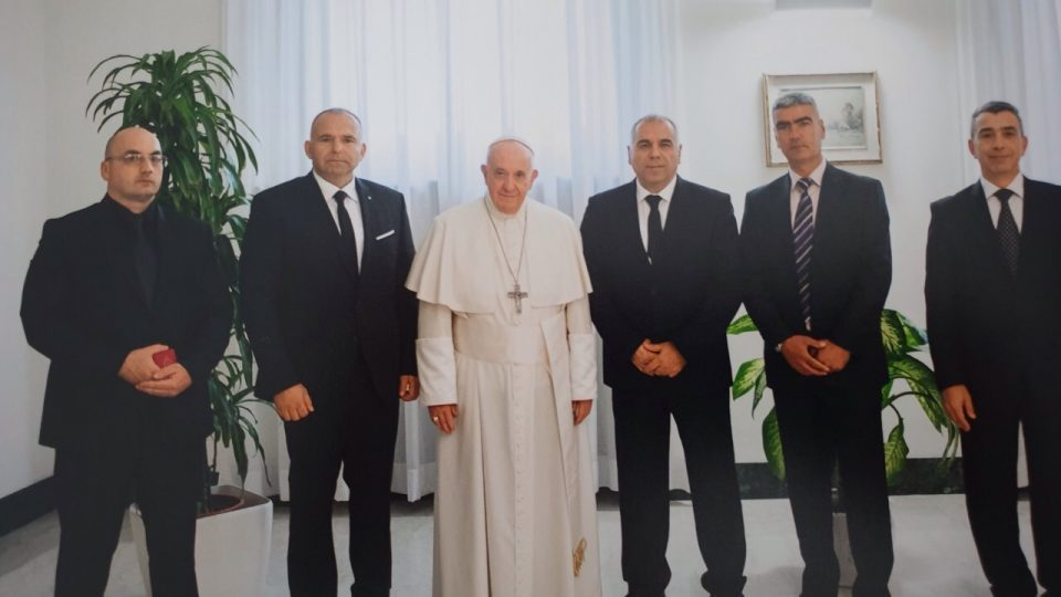 Pope Francis got a badge from the Ministry of Interior