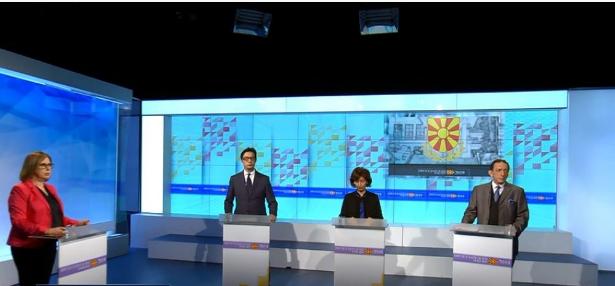 First presidential debate on TV Telma at 19:15 h