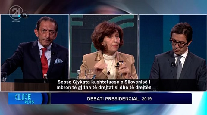 Siljanovska and Reka call Pendarovski out for his ugly and ethnically divisive campaign during the final presidential debate