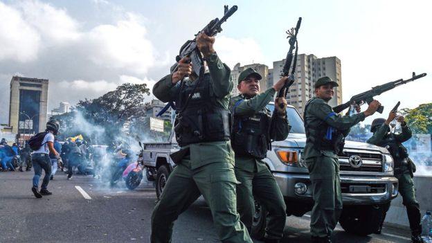 Shocking images from Venezuela as the Government and the opposition fight for power