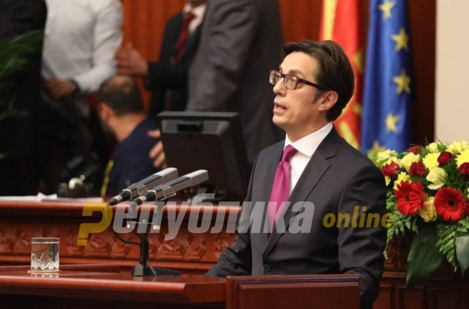 Pendarovski inaugurated as President, Xhaferi led the ceremony in Albanian