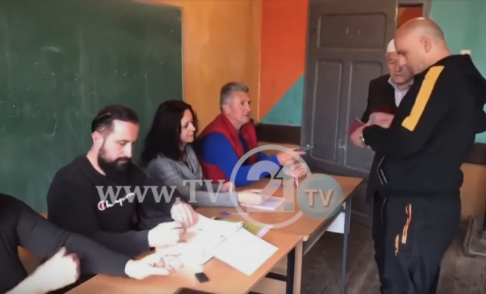 TV21 in Gostivar village of Korito, of 670 voters, only two voted
