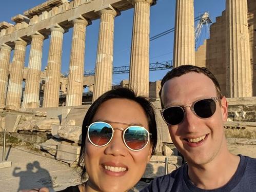 Zuckerberg celebrates wedding anniversary with wife in Acropolis