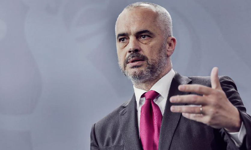 Edi Rama for TV Pink: I don't want borders with Kosovo, Montenegro, Macedonia or Serbia