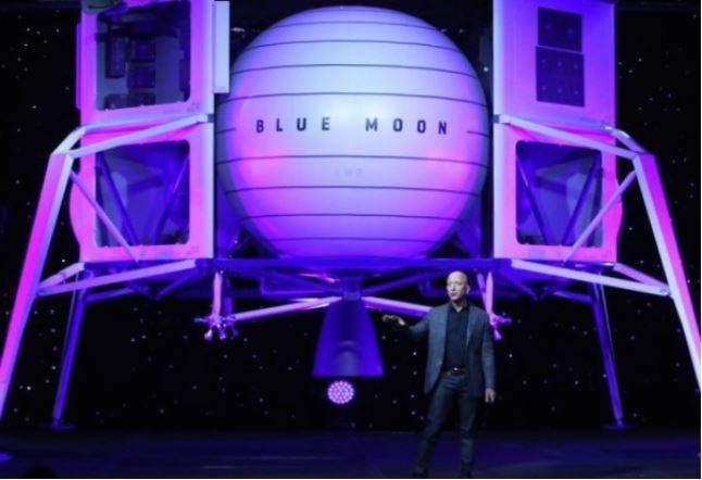 Amazon CEO Bezos presents prototype for a moon lander