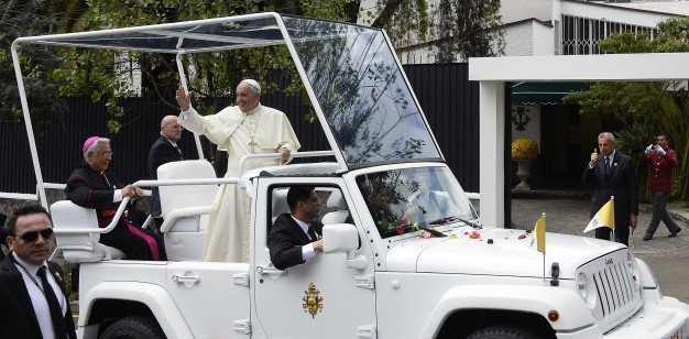 Pope Francis expected to ride in popemobile around Skopje