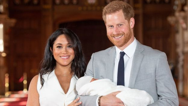 Prince Harry and Meghan Markle reveal newborn son