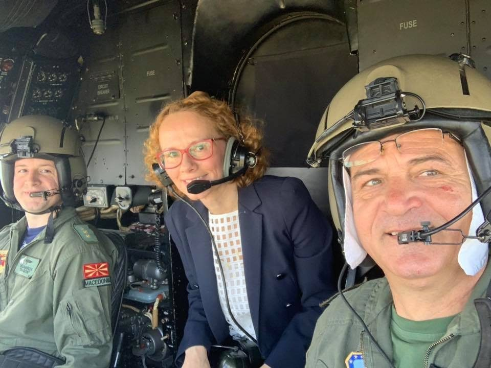 Sekerinska goes to Parliament session by helicopter