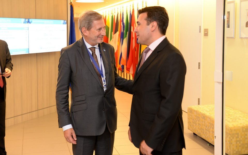 Zaev pleads with Hahn to keep his promise of opening EU accession talks this summer