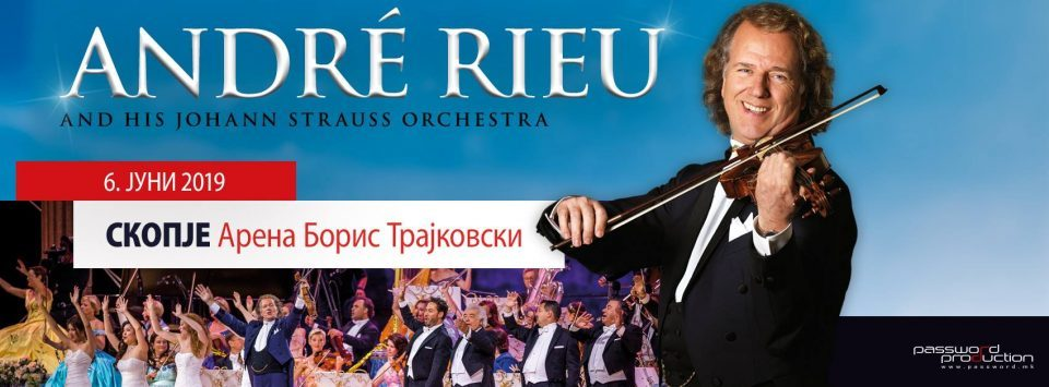 André Rieu prepares an unforgettable performance in Skopje: 9 trailers with equipment arrived