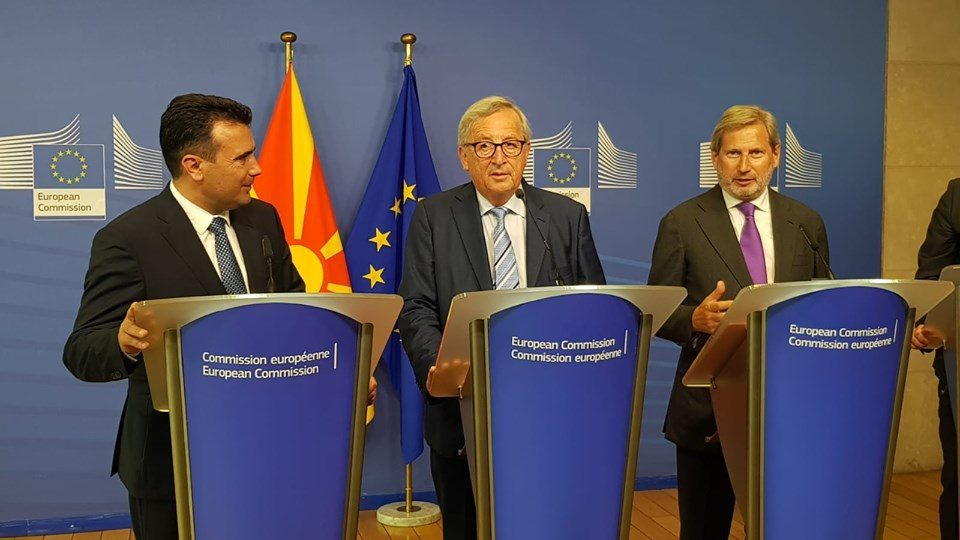 As his time runs out, Zaev pleads with Juncker and Hahn to help him open accession talks