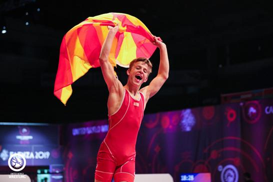 Besir Alili wins gold at the European youth wrestling championship