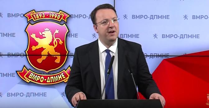 Nikoloski: SDSM wants to shut VMRO down using the special prosecutors