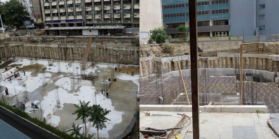 Building inspectors stop all work on the Beko site