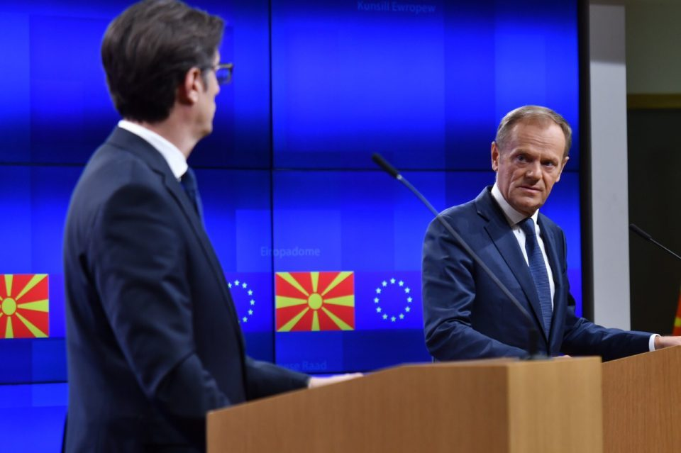 Tusk tells Pendarovski that some EU member states are opposed to opening EU accession talks with Macedonia